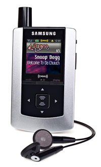 Samsung Helix XM2go Portable Satellite Radio/MP3 Player