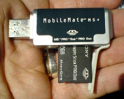 SanDisk MobileMate MS+: Review (99%): 2Gb MS Lifesaver