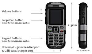 Sonim XP1 / JCB Toughphone: It's A Tough Phone