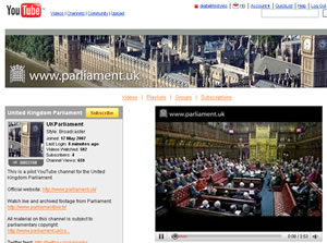 House Of Lords YouTube Channel Launches