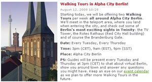 Twinity: Virtual Berlin Tour Start