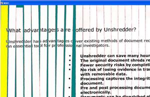 Unshredder: Join Together Shredded Documents In Software: Review-ette (20%)