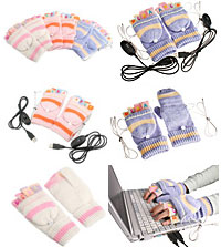 USB Foot Warmers And Gloves