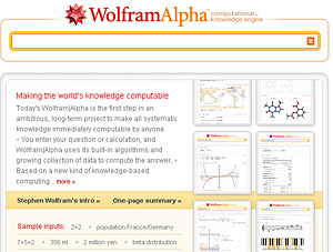 Wolfram Alpha - Revolutionary Search Engine Goes Live