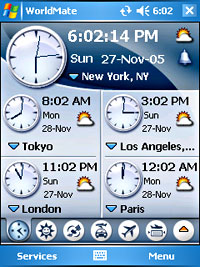 WorldMate 2006 Travel App For Pocket PC Users