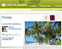 Yahoo Launches Trip Planner