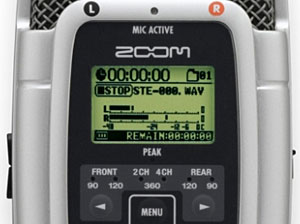 Zoom H2 Portable 2-Track SD Recorder